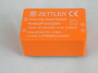 ZPD10S1200W AC/DC 10W ING, 100-240VAC OUT 12V