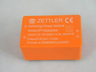 ZPD10S2400W AC/DC 10W ING, 100-240VAC OUT 24V