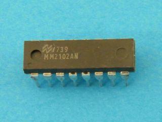 MM2102AP NATIONAL 1024X1 SRAM DIL16