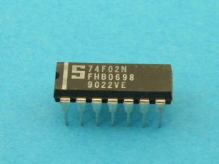 74F02N  LOGIC IC DIL14 SIGNETICS