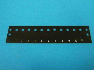 Numerazione morsettiera MOR7ET (per morsettiera 7 poli MOR7/90)