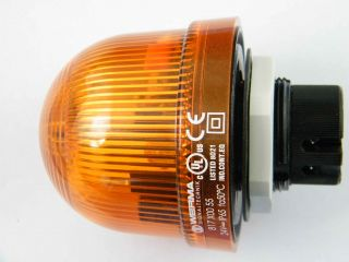 Segnalatore Lampeggiamento Werma 81730055, Xeno, Giallo, 24 V c.c.