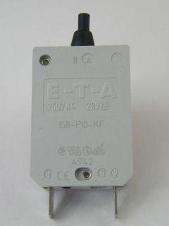 INTERRUTTORE TERMICO E-T-A   158-P10KF 8A