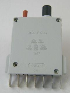 INTERRUTTORE TERMICO   3600-P10-SI  2A
