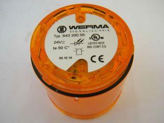 LUCE GIALLA 24V WERMA 843.330.55