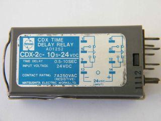 RELE TEMPORIZZATO CDX-2C-10S-24VDC TIME DELAY 0,5-10SEC. MATSUSHITA
