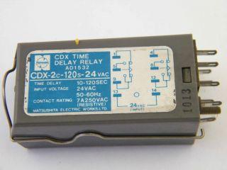 RELE TEMPORIZZATO CDX-2C-120S-24VAC TIME DELAY 10-120SEC. MATSUSHITA