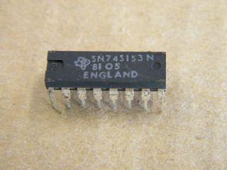74S153 SN74S153 DUAL 4 INPUT DATA SELECTOR