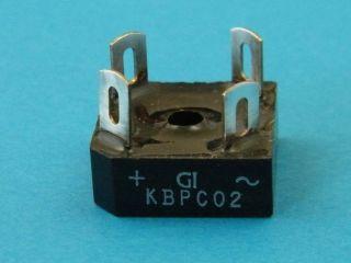 5PCS KBPC02 PONTE DIUODI 200V 3A GENERAL INSTRUMENTS