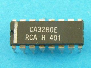 CA3280E HARRIS TRACONDUCTANCE AMPLIFIER DIL16