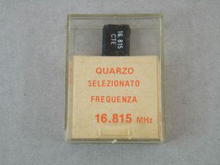 QUARZO SELEZIONATO HC49 16,815MHZ