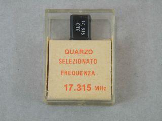 QUARZO SELEZIONATO HC49 17,315MHZ