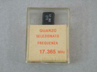 QUARZO SELEZIONATO HC49 17,365MHZ