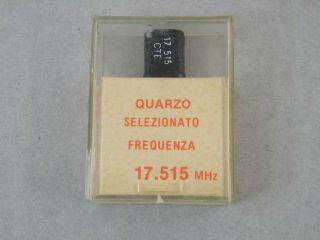 QUARZO SELEZIONATO HC49 17,515MHZ