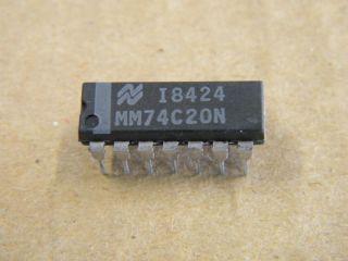 74C20 DIL14 DUAL 4 INPUT NAND