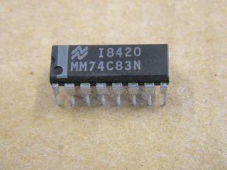 74C83 DIP16 4 BIT BINARY FULL ADDER