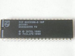 P80C31BH-3 PHILIPS MICROCONTROLLER DIP40