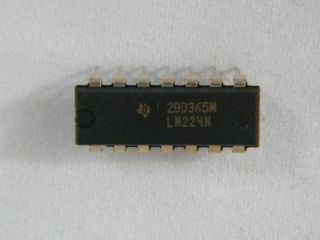 LM224N QUAD OPERATIONAL AMPLIFIER DIL14