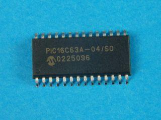 PIC16C63A-4SO 8 BIT MICROCONTROLLER  SO28