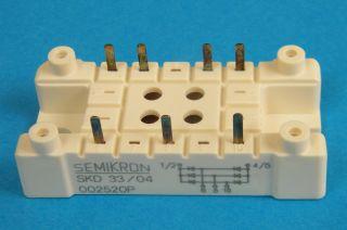 SKD33/04  SKD3304  MODULO PONTE TRIFASE 33A 400V