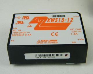 KWS15-12 CONV.AC/DC 220/12VDC 1,3A LAMBDA KWS15/12