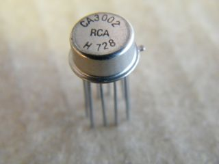 CA3002 OPERATIONAL AMPLIFIER METAL CAN TO5-10 RCA
