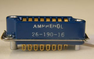 ANPHENOL 26-190-16 16 CONTACT FEMALE RACK MOUNT CONNECTOR