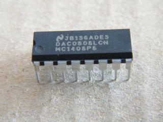 DAC0808LCN 8 BIT D/A CONVERTER NATIONAL DIP16