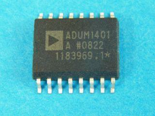 ADUM1401ARWZ QUAD CHANNEL DIGITAL ISOLATOR ABALOG DEVICES  SO16W