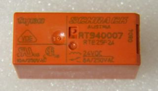 RELAY SCHRACH RT940007  RTE25F24 24vd