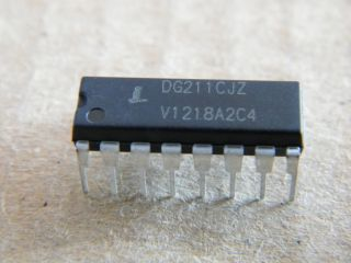 DG211CJZ   DG211  QUAD AN ALOG SWITCH INTERSIL DIP16