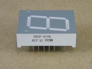 HDSP815G 20MM 7 SEG. DISPLAY COMMON ANODE GREEN  (VERDE) HP