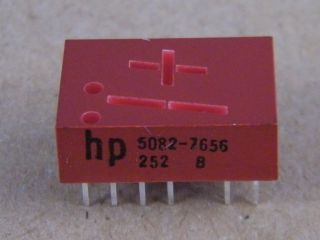 HP 5082-7656   -+1 DISPLAY   RED  HP