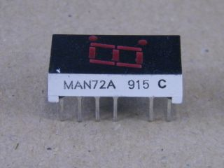 MAN72A 7.6MM  DISPLAY COMMON ANODE RED FAIRCHILD