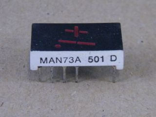 MAN73A 7.6MM  -+1  DISPLAY COMMON ANODE RED FAIRCHILD