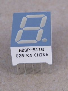 HDSP511G  DISPLAY COMMON ANODE 14.22MM GREEN HP