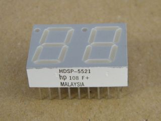HDSP5521 TWO DIGIT COMMON  ANODE DISPLAY GREEN 14.22MM HP