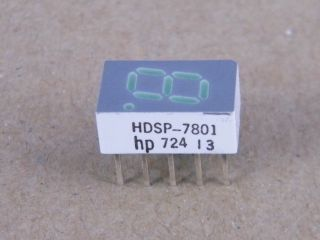HDSP7801 DISPLAY COMMON ANODE GREEN 7.6MM HP