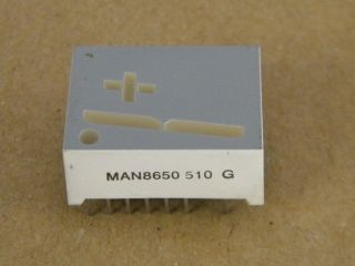 MAN8650 DISPLAY -+1 COMMON CATHODE 20MM RED GENEAL INTRUMENTS
