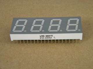 LTC5837E 4DIGIT DISPLAY 13.2MM ORANGE COMMON ANODE LITE-ON