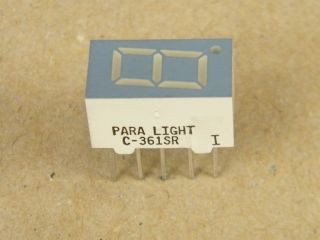 C361SR DISPLAY COMMON CATHODE 9MM RED PARA-LIGHT