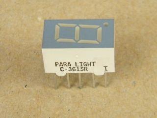 C361SR DISPLAY COMMON CATHODE 9MM RED PARA-LIGHT