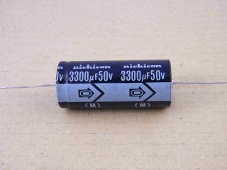 ELETTROLITICO ASSIALE 3300UF 50V 22X52MM NICHICON