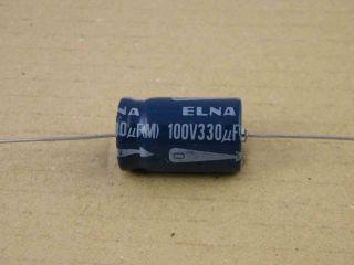 ELETTROLITICO ASSIALE 330UF 100V 16X27MM ELNA