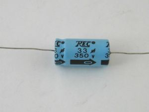 ELETTROLITICO ASSIALE 33UF 350V 16X30MM TREC