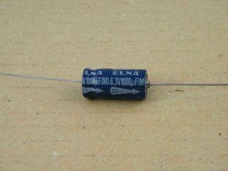 ELETTROLITICO ASSIALE 1000UF 6.3V 10X22MM ELNA