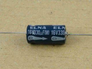 ELETTROLITICO ASSIALE 330UF 16V 8X18MM ELNA