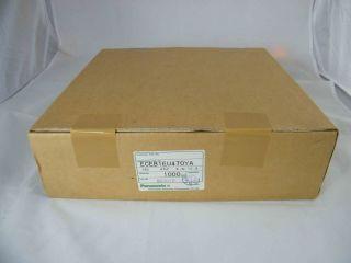 BOX 1000PA ELETTROLITICO ASSIALE 47UF 25V 6,3X10 PANASONIC ECEB1EU470YA